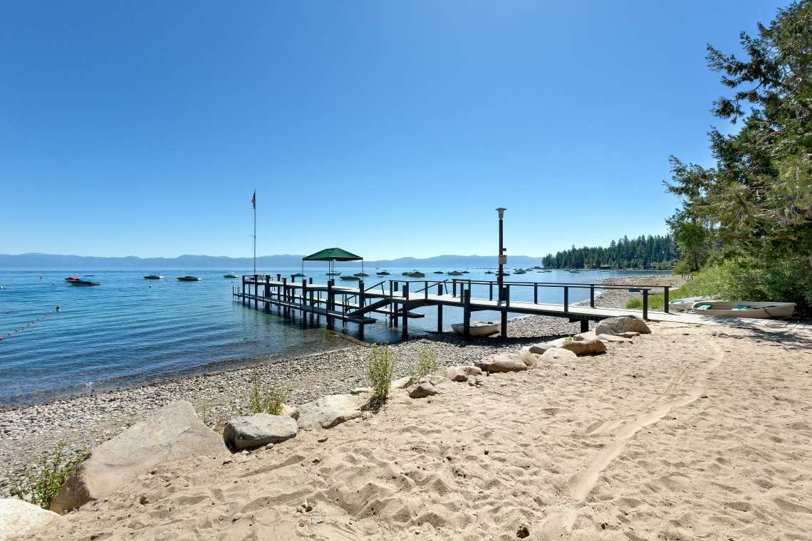 McKinney Shores HOA Beach on Lake Tahoe