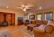 West Shore Lake Tahoe Real Estate   6070 Quail Creek Rd   Family Room