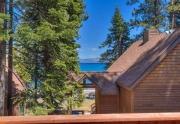 Lake Tahoe Real Estate | 6070 Quail Creek Road | Deck with view of Lake Tahoe