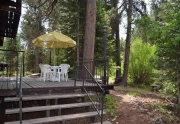 Olympic Valley Home for Sale   Deck Surrounded by Beautiful Greenery