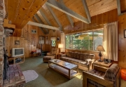 Old Tahoe Chalet Living Room