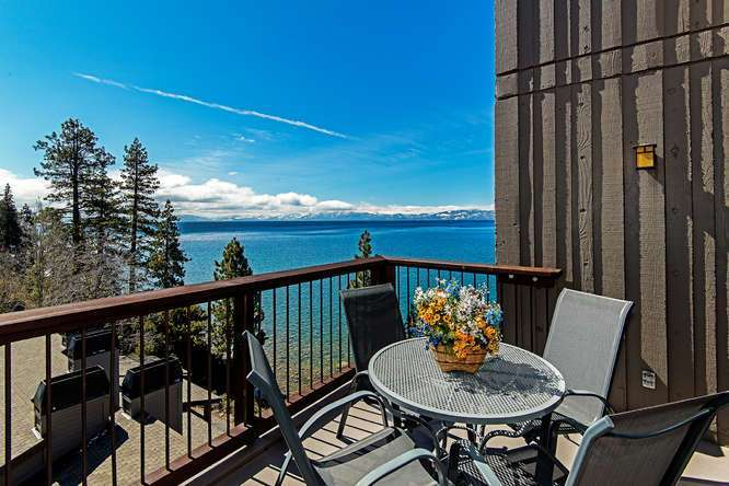Brockway Springs Lakefront | Deck with View of Lake Tahoe