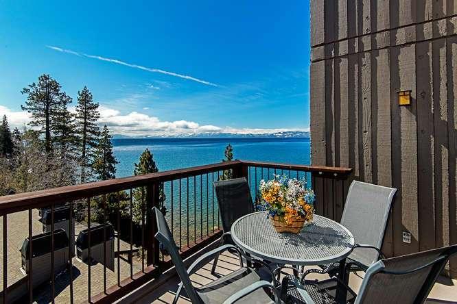 Brockway Springs Lakefront   Deck with View of Lake Tahoe