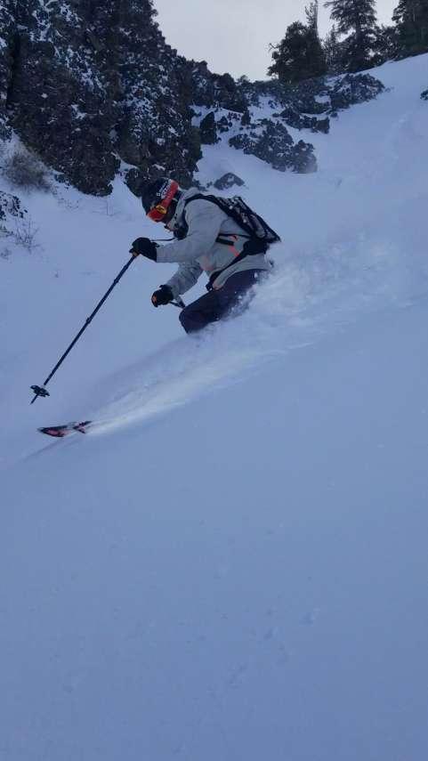 Alpine Meadows Ski Resort Powder Skiing - Tahoe
