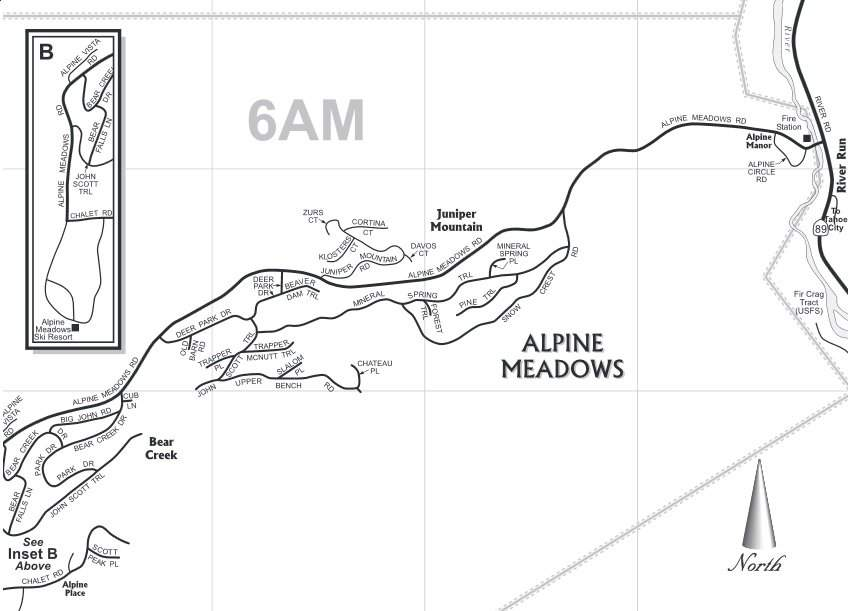 Alpine Meadows, CA Neighborhood Map