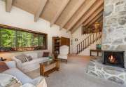 180 Quiet Walk Rd. | Great room with stone fireplace