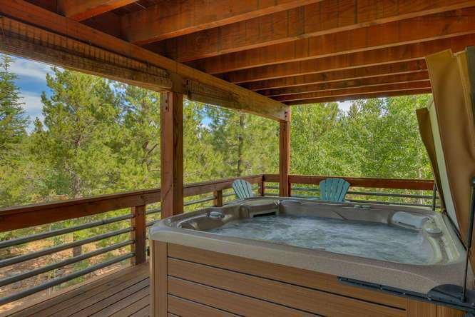 Tahoe Donner Real Estate | 12418-Snowpeak-Way-Truckee-CA | Downstairs Patio