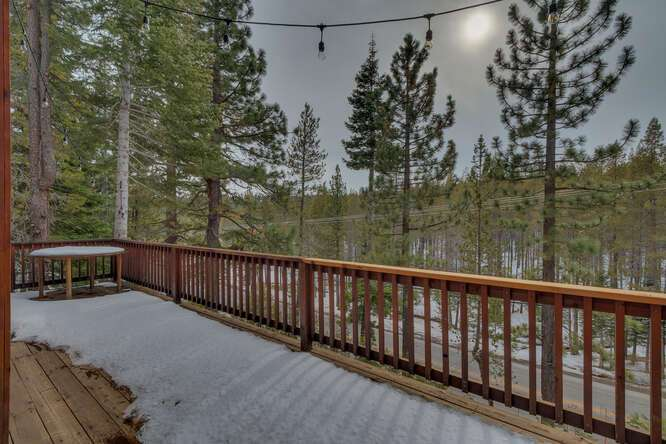 Scenic views from the back deck | Tahoe Donner Chalet
