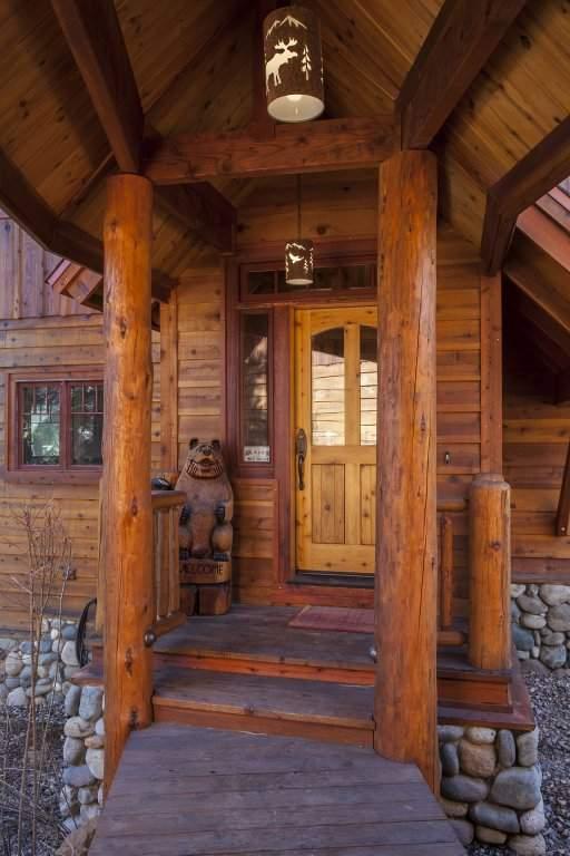 Custom Log Accents in Carnelian Bay luxury home