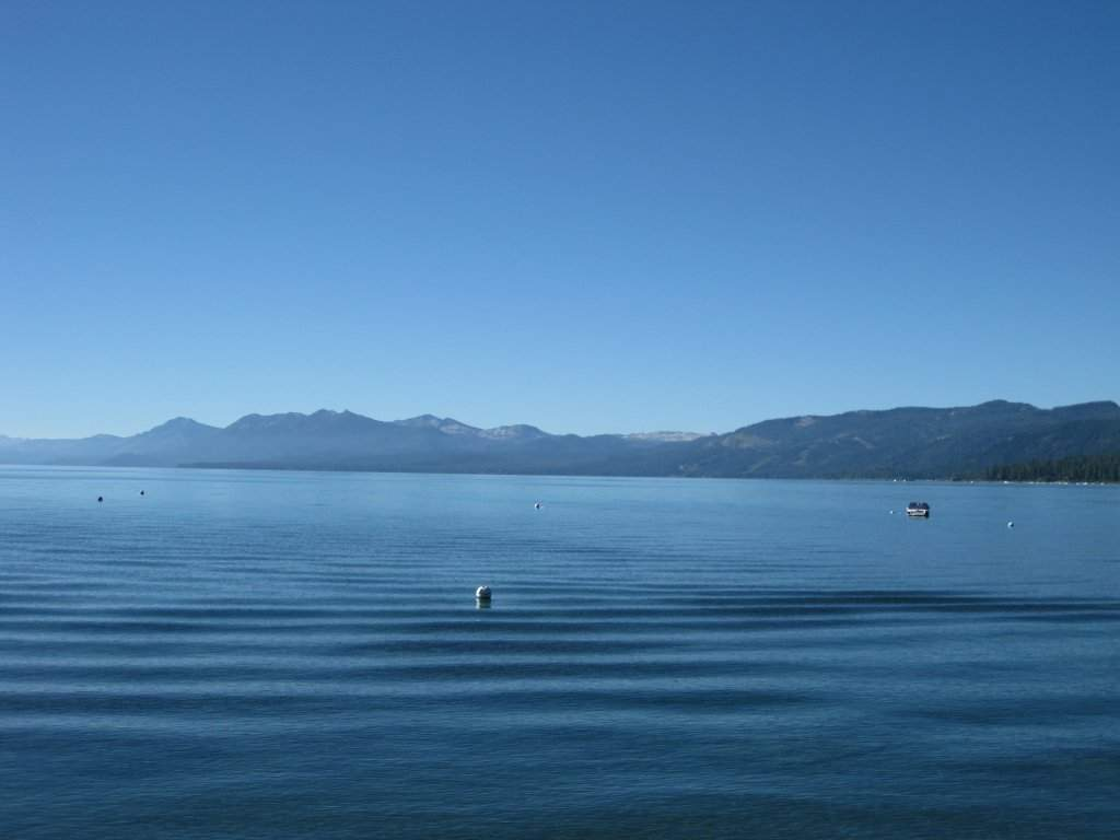 View of West Shore from Tahoe Pier in Carnelian Bay, CA
