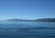 View of West Shore from Tahoe Pier in Carnelian Bay, CA