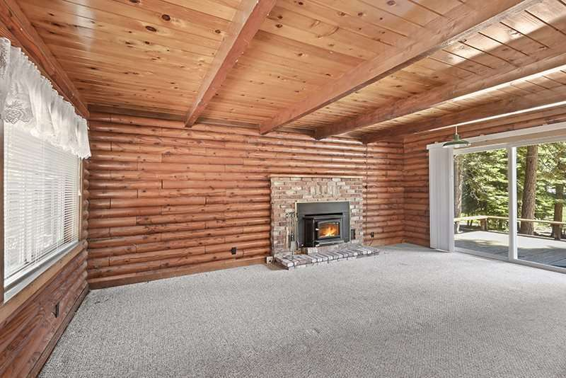 Tahoe Vista Real Estate |  Living Room with Fireplace