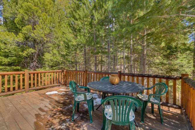 Spacious Deck with forest views | West Shore home for sale