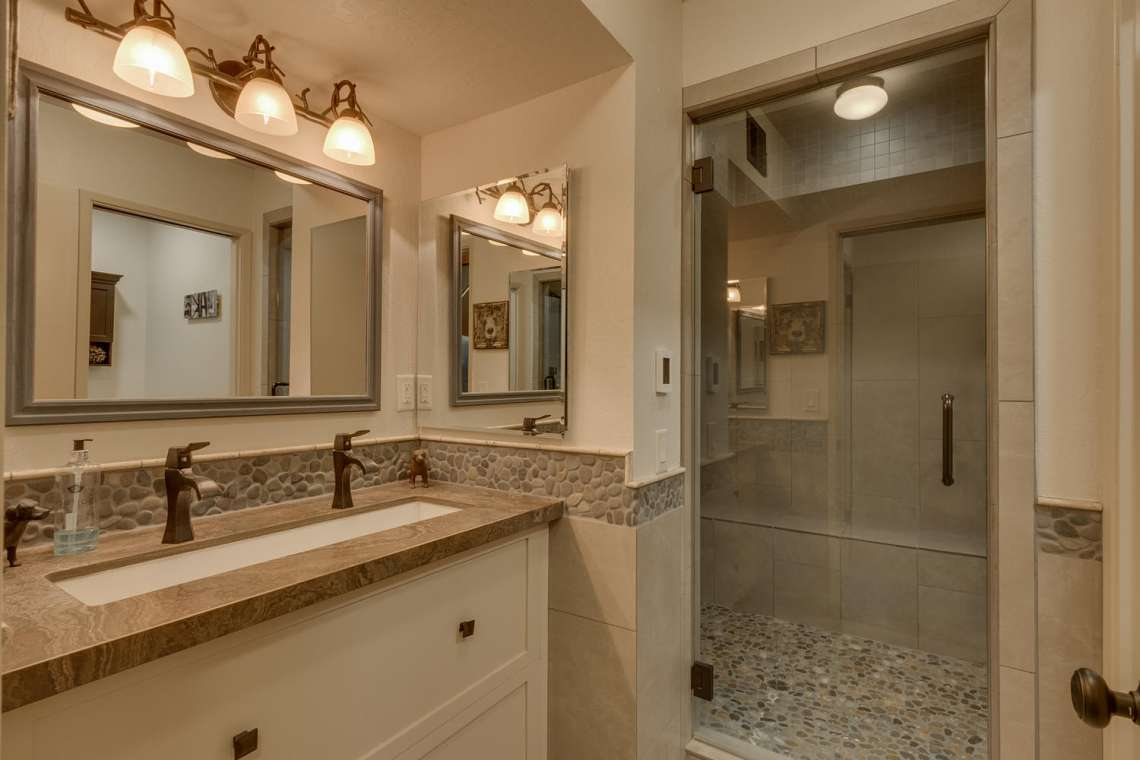 Luxury Lake Tahoe Bathroom in Dollar Point