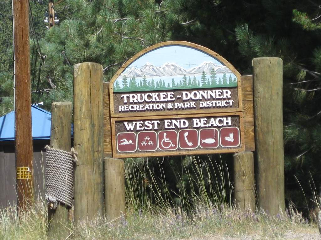 West End Beach at Donner Lake