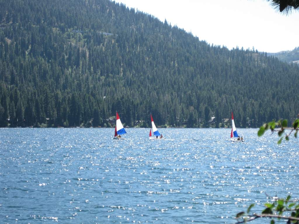Sail boats on Donner Lake