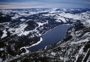 Aerial View of Donner Lake in Truckee