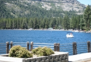 View from public boat launch near the West End Beach at Donner Lake