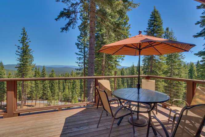 Exceptional Truckee Acreage Estate | 13074 Timber Ridge Ct | Deck with views