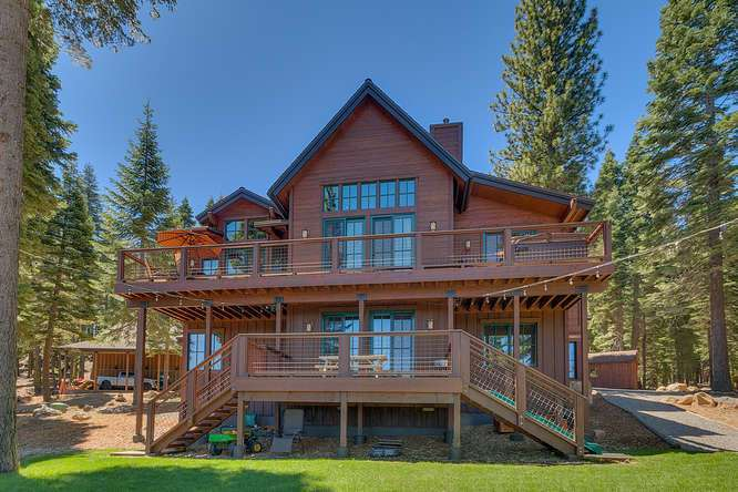 Exceptional Truckee Acreage Estate | 13074 Timber Ridge Ct | Back of Home