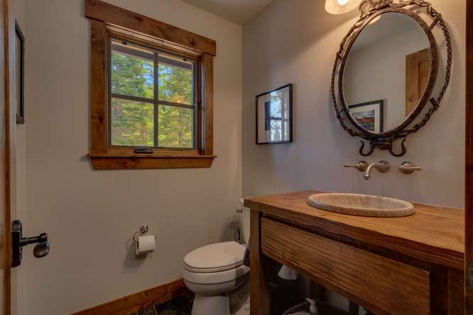 Exceptional Truckee Acreage Estate | 13074 Timber Ridge Ct | Half Bathroom