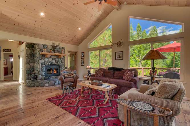 Home for Sale in Tahoe City | 430 Granlibakken Rd Tahoe City | Living Room