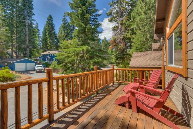 Lake Tahoe Home for Sale | 430 Granlibakken Rd Tahoe City | Master Deck