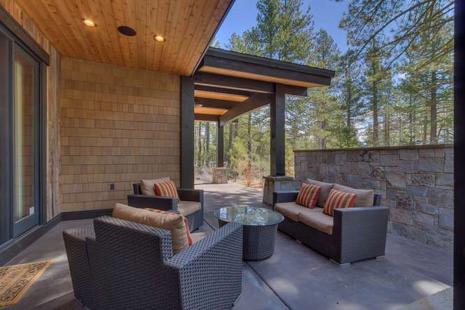 Truckee Golf Real Estate | 11239 Henness Rd Truckee CA | Back Patio