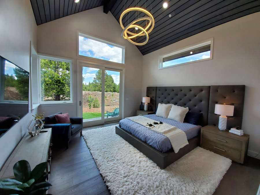 Modern Mountain Master Bedroom in Gray's Crossing