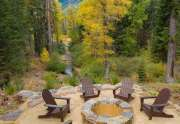 Fire pit with beautiful forest views   930 Sierra Vista Ave