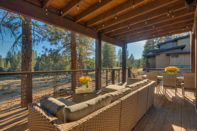 Deck featuring beautiful views | Gray's Crossing Golf Course home