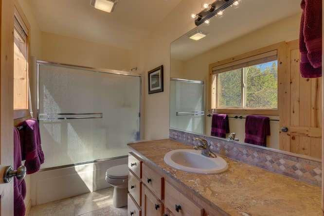 Tahoe Donner Condo |11375 Northwoods Blvd #4 | Guest Bathroom