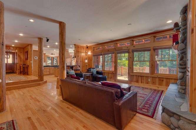 Gorgeous living room | Carnelian Bay Luxury Home