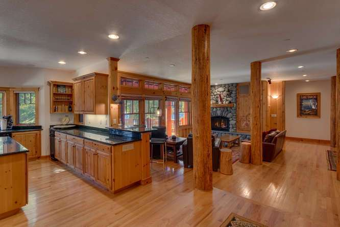 Spacious and open kitchen and living room