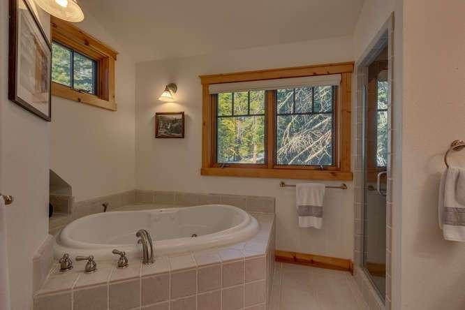 Tranquil Master Bathroom | Carnelian Bay Luxury Home