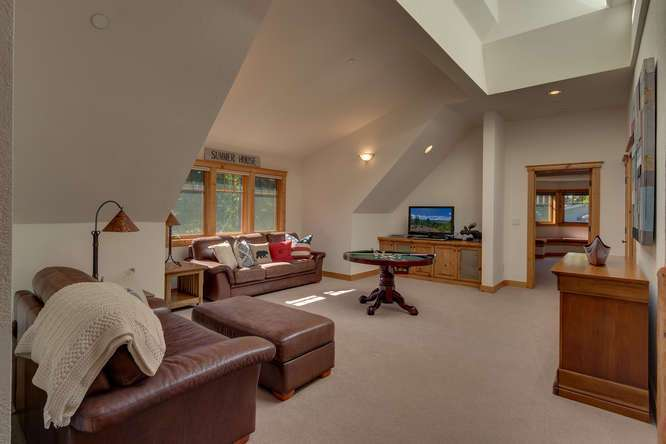 Spacious family room | Carnelian Bay Luxury Home