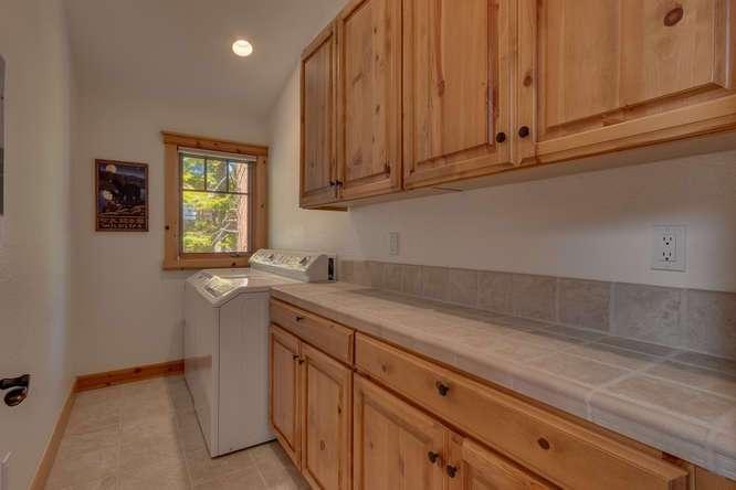 Laundry room | Carnelian Bay Luxury Home