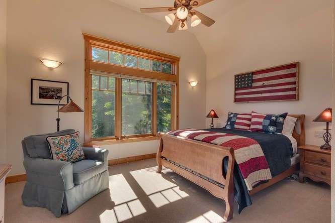 Guest bedroom | Carnelian Bay luxury home