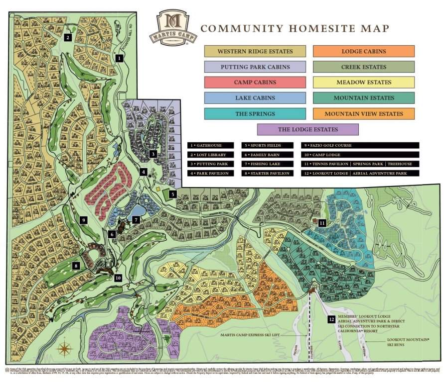 Martis Camp Community Map
