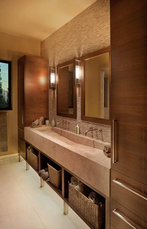 Martis Camp Contemporary Bathroom (c) James Cole | Martis Camp Real Estate