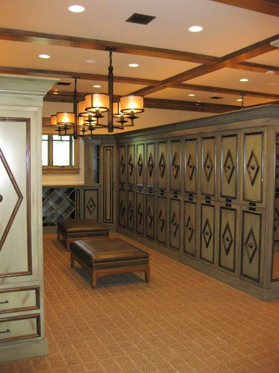 Camp Lodge Mens Locker Room at Martis Camp