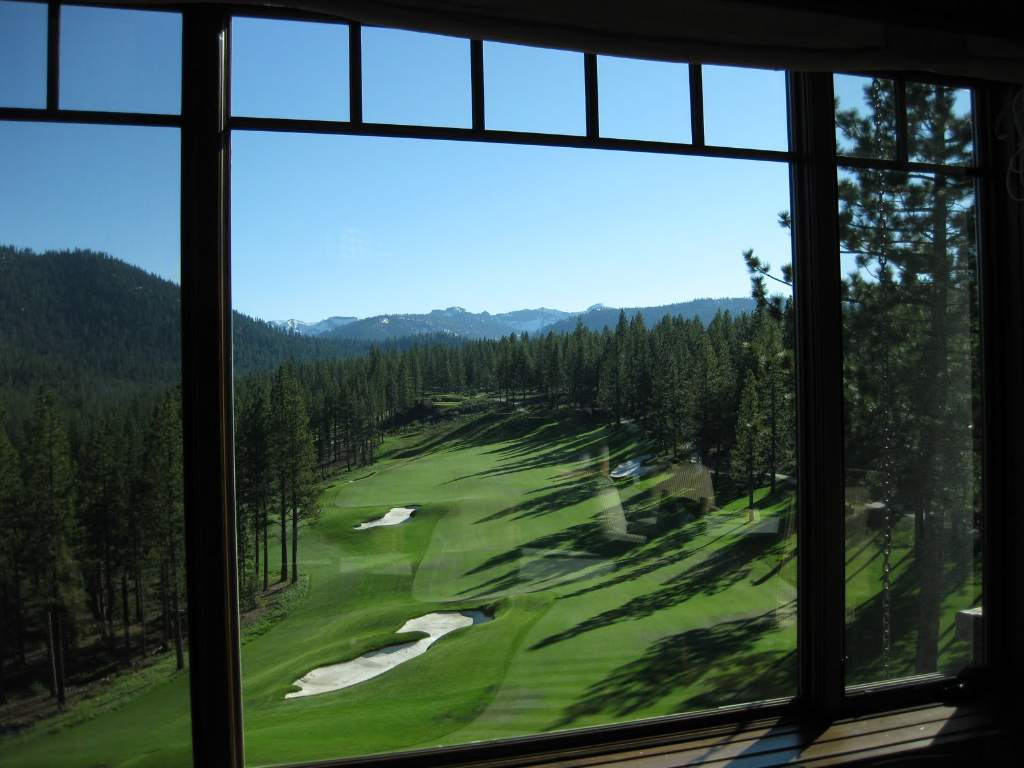 View from the Martis Camp Lodge