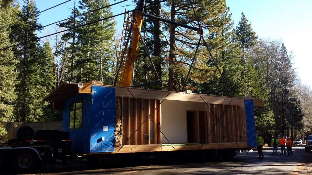 Modular Home Construction On The West Shore Of Lake Tahoe
