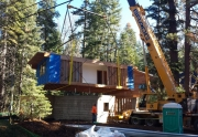 Setting a Modular Home in Lake Tahoe