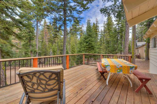 Home for Sale Lake Tahoe | 432 Sierra Dr Tahoma CA 96142 | Patio
