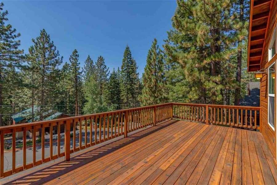 Spacious, sunny deck | Tahoe Donner Getaway