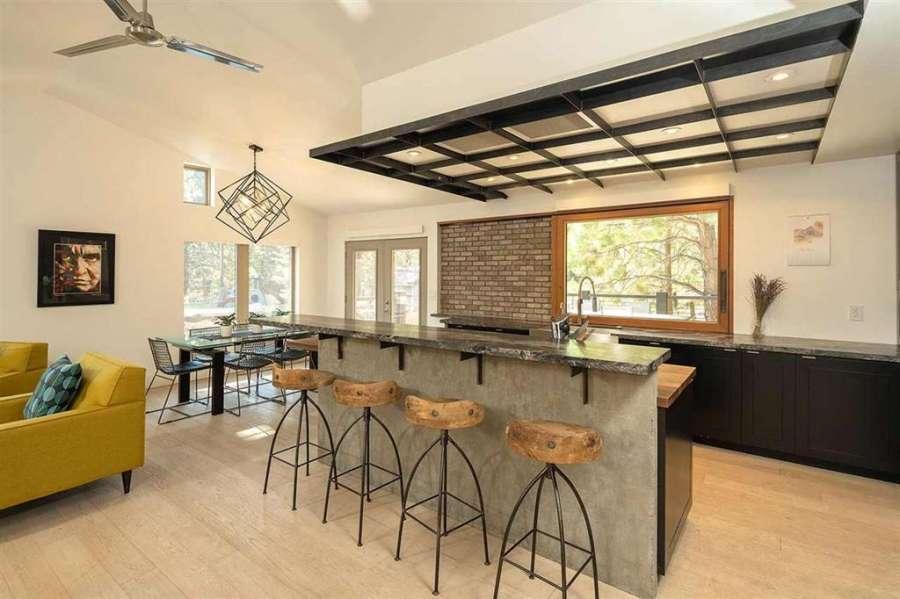 Stunning Modern Kitchen in Tahoe   Prosser Lakeview Estates home