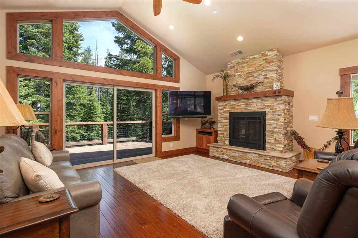 Tahoe Donner Home |  13988 Swiss Lane Truckee, CA | Living Room with View