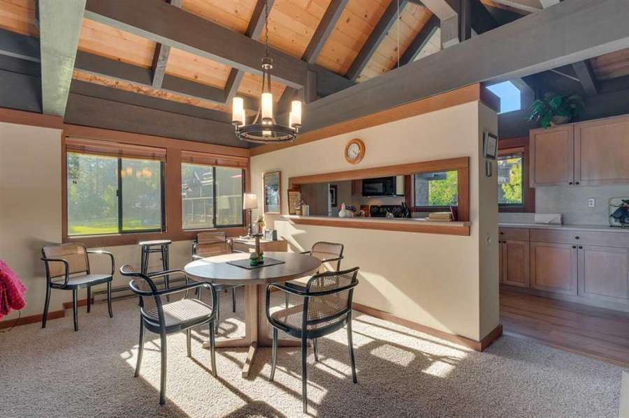 Bright Dining Area  | Tahoe City Lakefront Condo