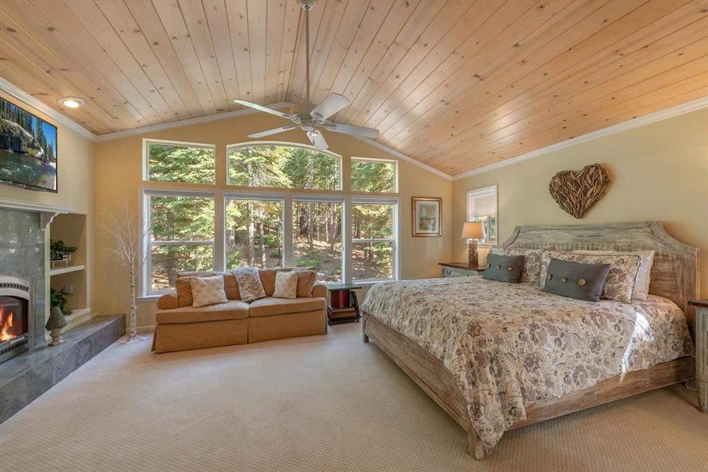 Primary bedroom   Tahoe Donner Luxury Property